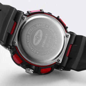 POPART 987AD Unisex Quartz-Analog Watch with 50 Meter Waterproof - LOVE RED