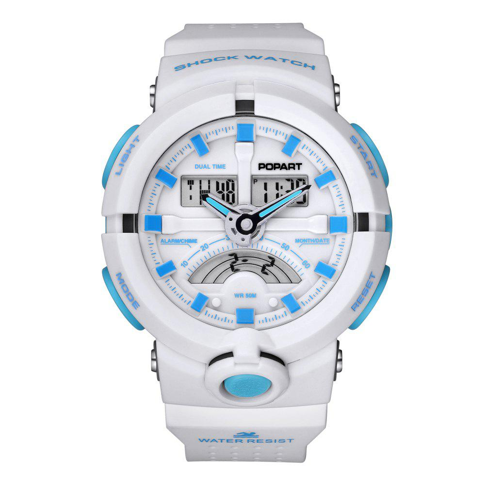 POPART 987AD Unisex Quartz-Analog Watch with 50 Meter Waterproof - MILK WHITE