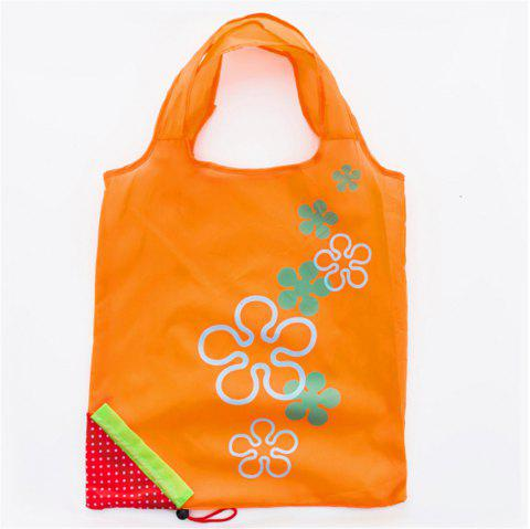 Portable Strawberry Foldable Shopping Tote Eco Reusable Recycle Bag - CANTALOUPE