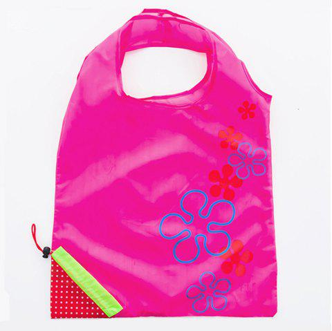 Portable Strawberry Foldable Shopping Tote Eco Reusable Recycle Bag - VIOLET RED