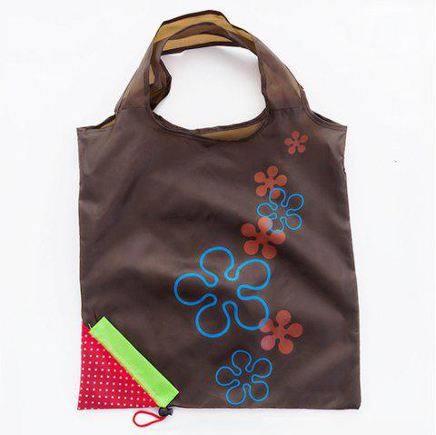 Portable Strawberry Foldable Shopping Tote Eco Reusable Recycle Bag - TAUPE