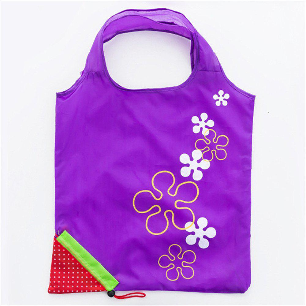 Portable Strawberry Foldable Shopping Tote Eco Reusable Recycle Bag - LOVELY PURPLE