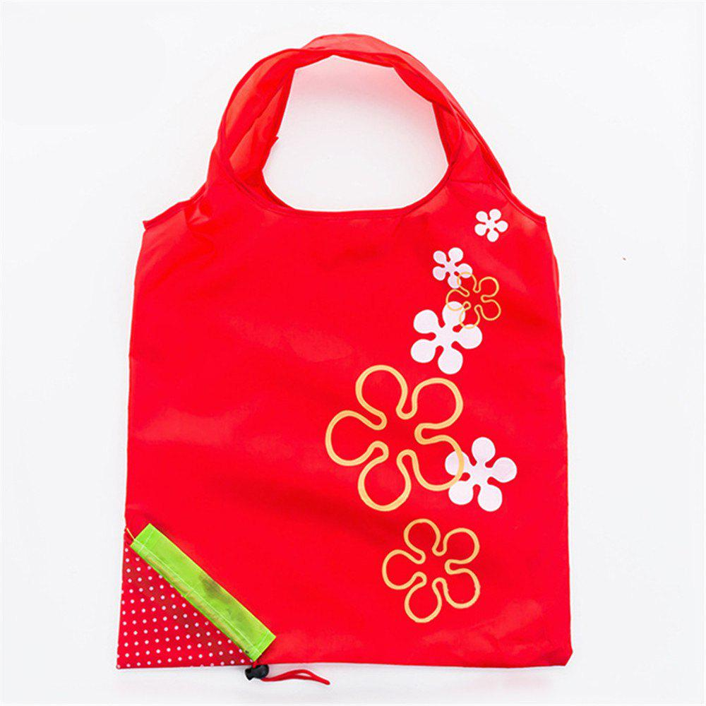 Portable Strawberry Foldable Shopping Tote Eco Reusable Recycle Bag - RED