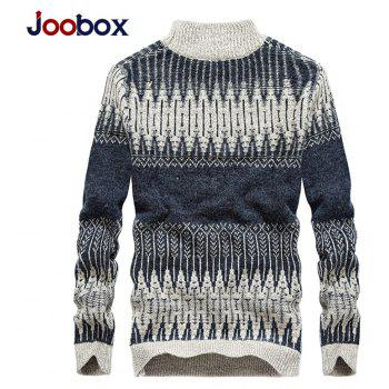 New Men Warm Casual High Collar Pullover Youth Sweater - BLUE GRAY 2XL