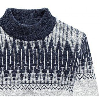 New Men Warm Casual High Collar Pullover Youth Sweater - PLATINUM XL