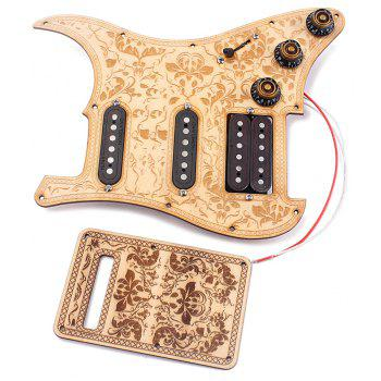 Prewired Loaded SSH Maple Wood Pickguard Alnico V Pickups for Strat Guitar - YELLOW