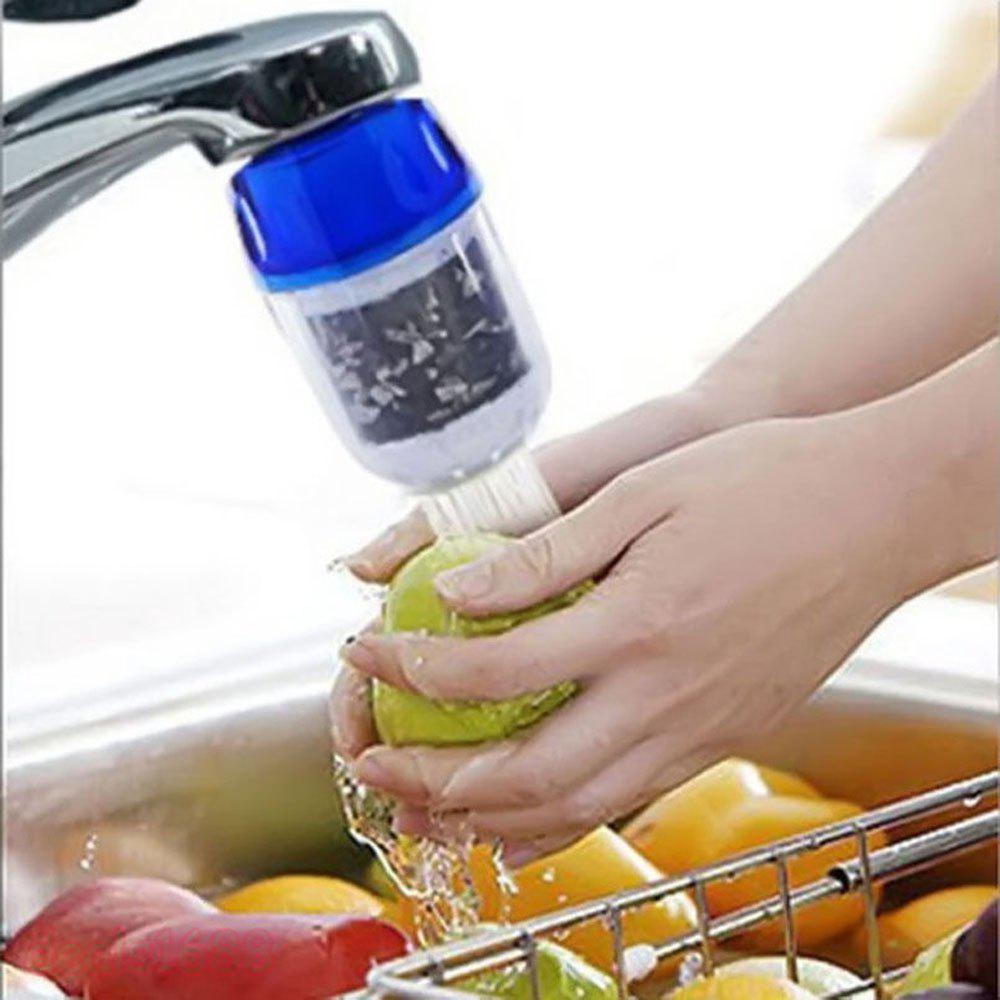 Coconut Carbon Water Purifier Filter Cleaner Cartridge Home Kitchen Faucet Tap For Bathroom Kit Tool - DAY SKY BLUE
