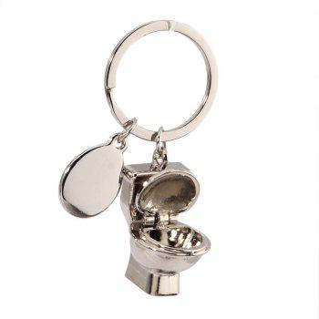Creative Personality Simulation Toilet Keychain Small Pendant - SILVER