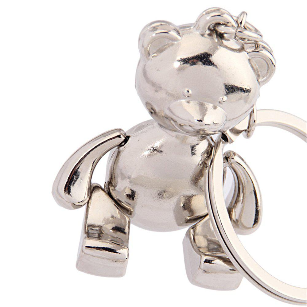 Creative bear key chain activities can be a small gift for men and women birthday - SILVER