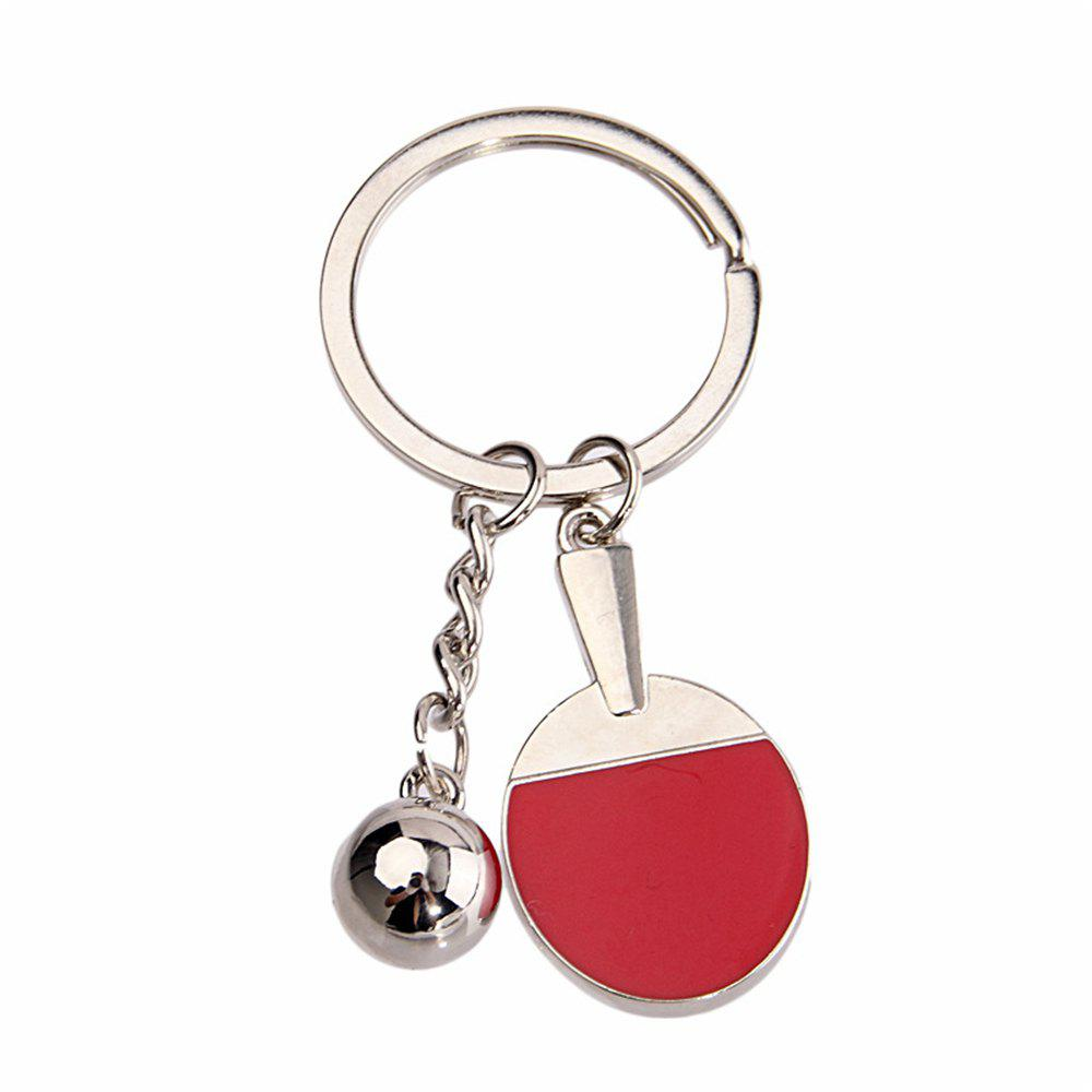 Hot High-quality Table Tennis Racket Key chain Personalized Creative Gifts - SILVER