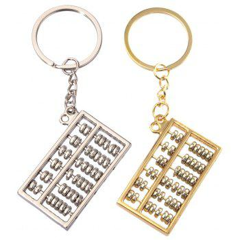 Creative Gold and Silver Abacus Key Pendant 6 Files 1PC - SILVER