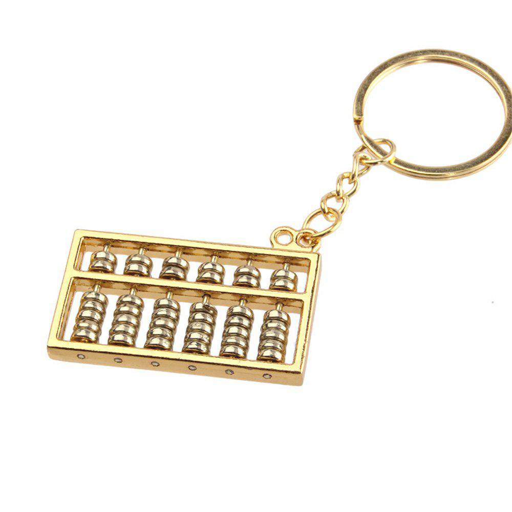 Creative Gold and Silver Abacus Key Pendant 6 Files 1PC - GOLD