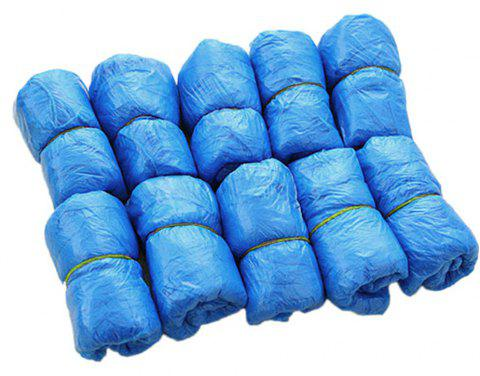 100PCS Disposable Shoe Covers Medical Waterproof Overshoes Rain Boots Mud Resistant 100PC - ROYAL BLUE