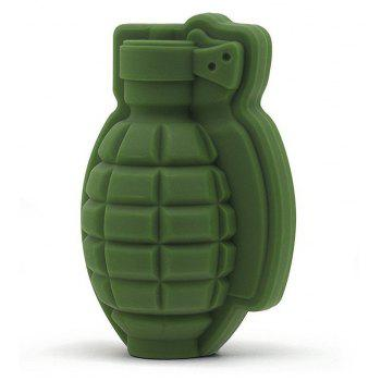 Grenade Shape 3D Ice Cube Mold Maker Silicone Trays Tool - SHAMROCK GREEN