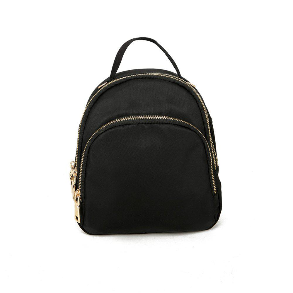 Nylon Fashion Simple Wild Small Fresh Cute Student Travel Backpack Tide - BLACK