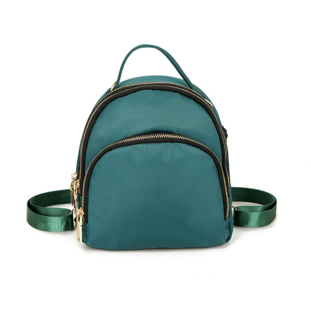 Nylon Fashion Simple Wild Small Fresh Cute Student Travel Backpack Tide - GREEN