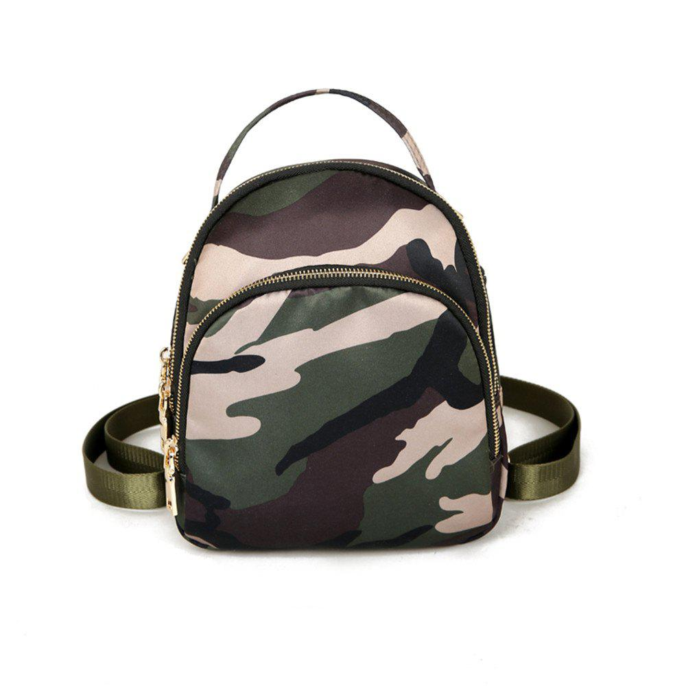 Nylon Fashion Simple Wild Small Fresh Cute Student Travel Backpack Tide - DIGITAL WOODLAND CAMOUFLAGE