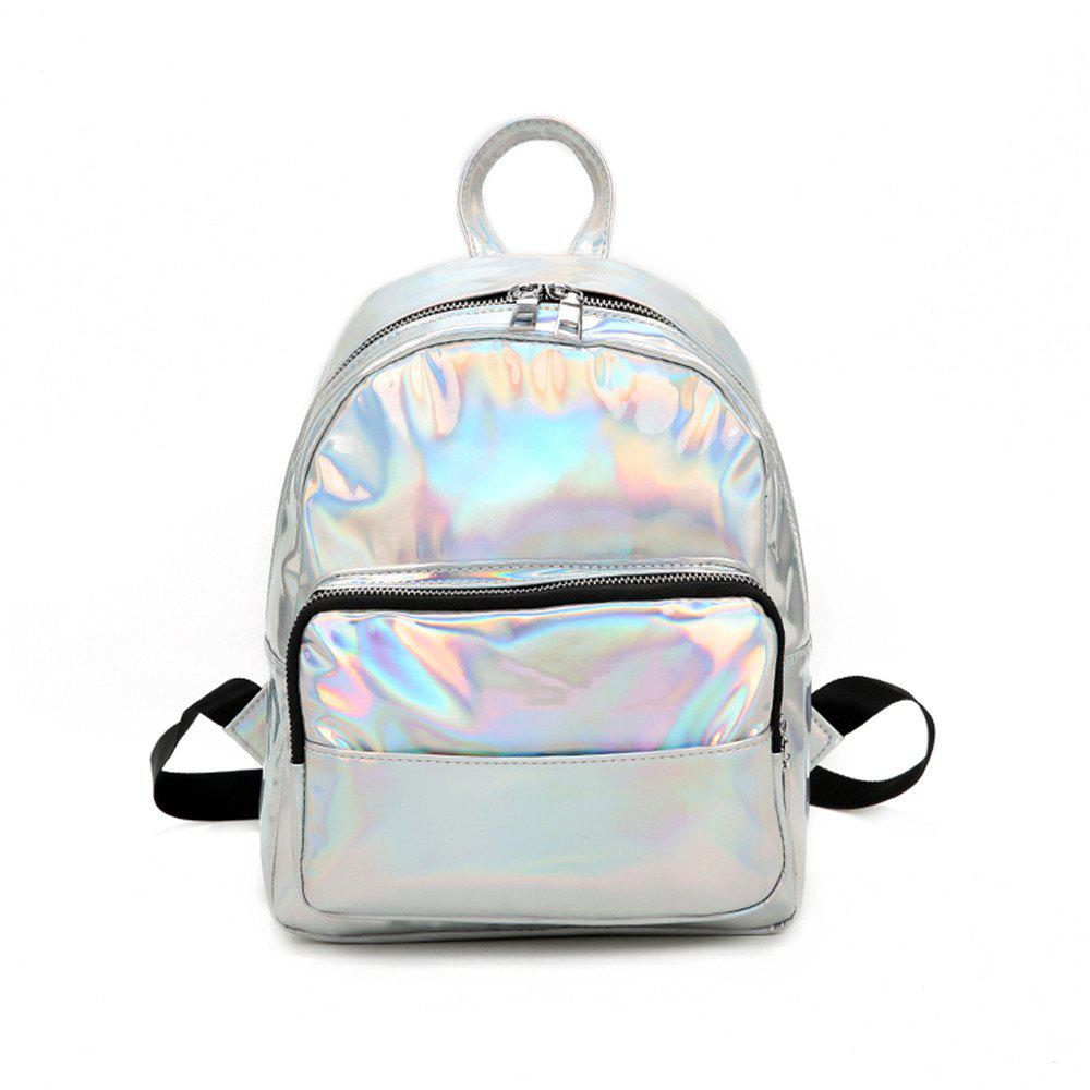 Fashion Simple Wild Fresh and Lovely Female Travel Backpack - PLATINUM