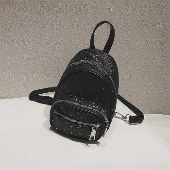 Shining Wild Fashion Simple Wild Small Fresh Lady Shoulder Bag Tide - BLACK