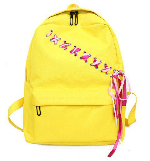 Canvas Large Capacity Fashion Small Fresh and Simple Ladies Travel Backpack Tide - YELLOW