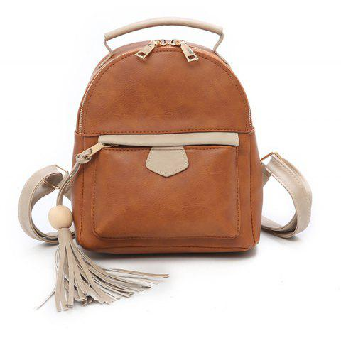 Fashion Simple Small Fresh Cute Female Mini Backpack Tide - BROWN