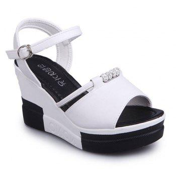 Summer New Muffin Thick-Bottomed Fish Sandals - WHITE 39