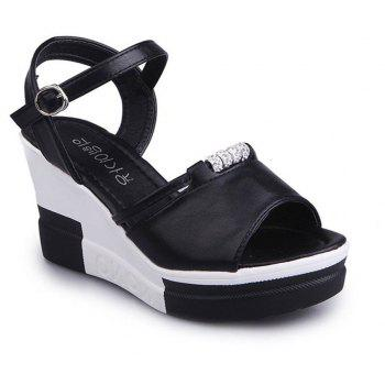 Summer New Muffin Thick-Bottomed Fish Sandals - BLACK 38