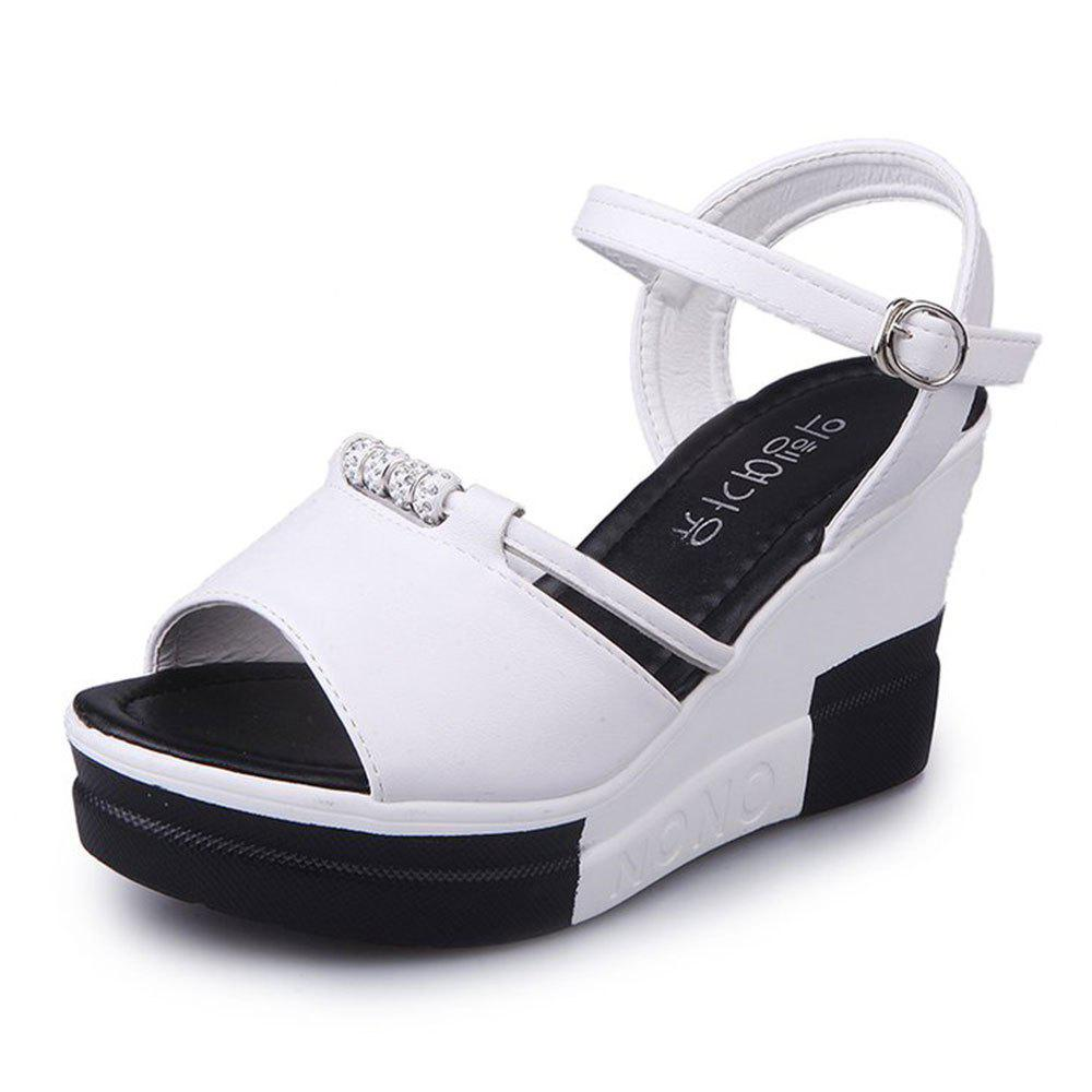 Summer New Muffin Thick-Bottomed Fish Sandals - WHITE 37