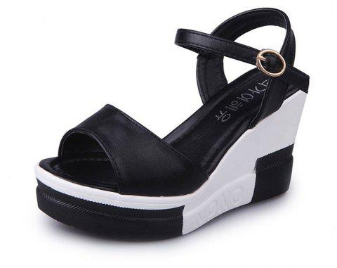 Summer New Muffin Platform Sandals - BLACK 38