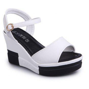 Summer New Muffin Platform Sandals - WHITE 35