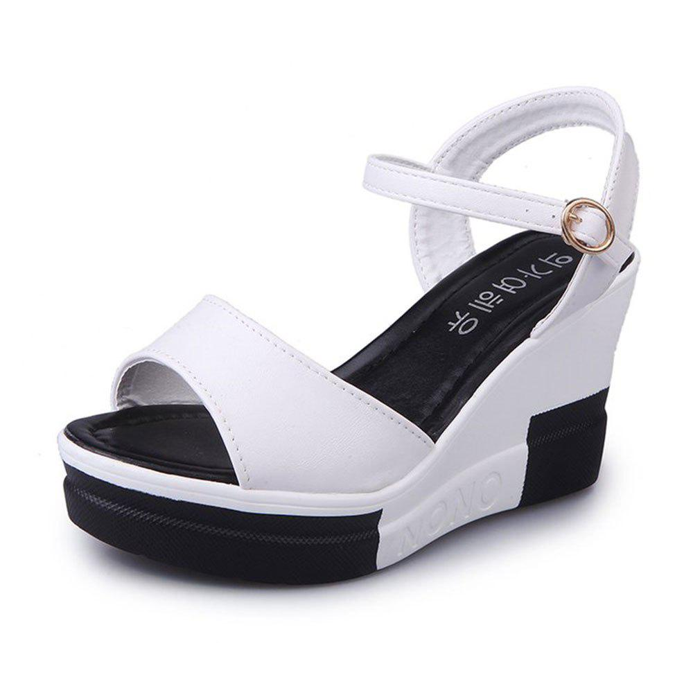 Summer New Muffin Platform Sandals - WHITE 38