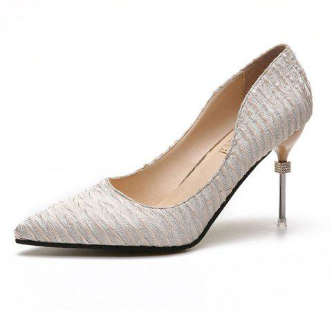 New Pointed Fine with Air Shoes in High Heels - GOLD 35