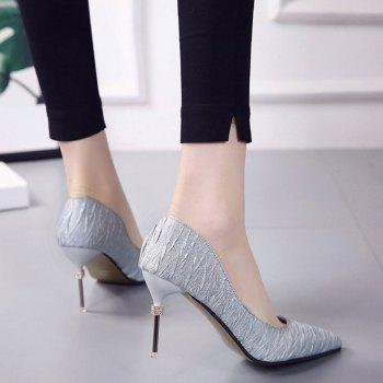 New Pointed Fine with Air Shoes in High Heels - SILVER 37