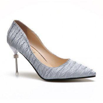 New Pointed Fine with Air Shoes in High Heels - SILVER 38