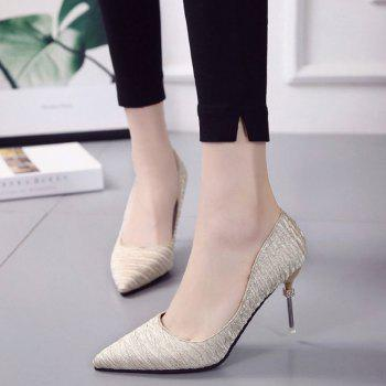 New Pointed Fine with Air Shoes in High Heels - GOLD 38