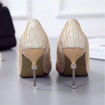New Pointed Fine with Air Shoes in High Heels - GOLD 39
