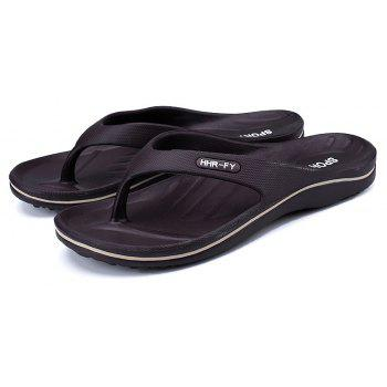New Summer Men's Casual Slippers - BROWN 40