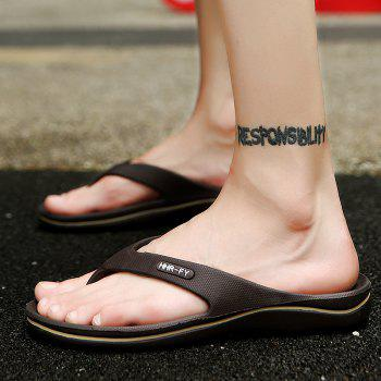 New Summer Men's Casual Slippers - BROWN 41