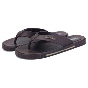 Fashion Men's Casual Slip Slippers - BROWN 39