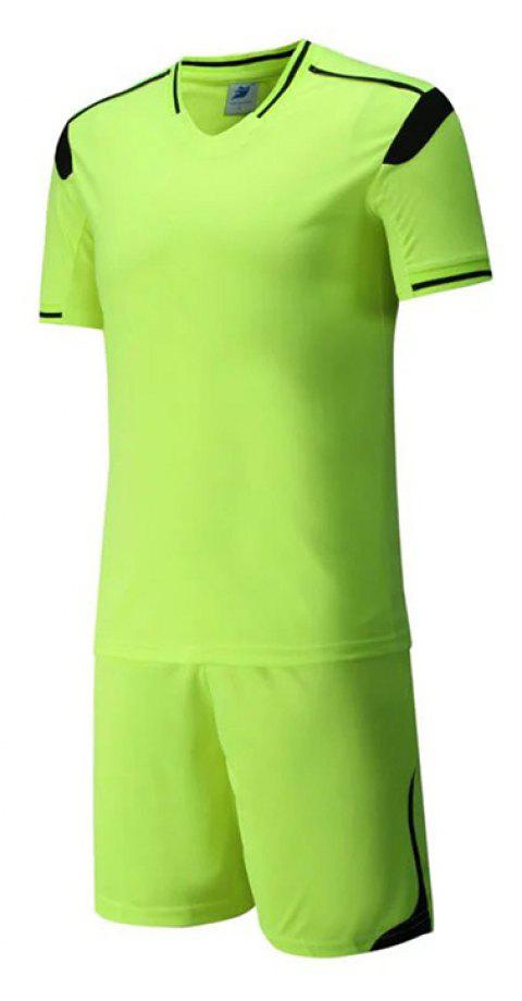 Men's Breathable Simple Style Sports Set - GREEN YELLOW M