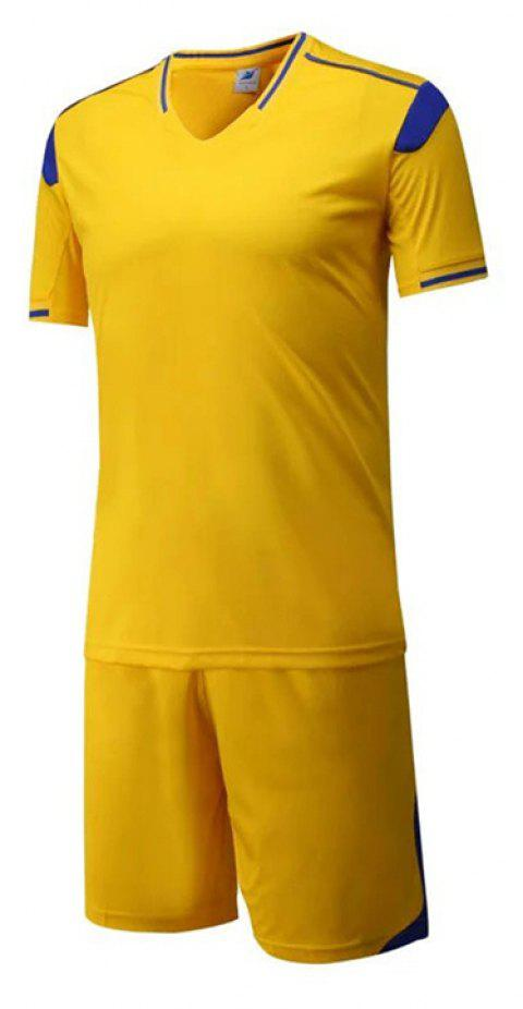 Men's Breathable Simple Style Sports Set - GOLDEN BROWN 2XL