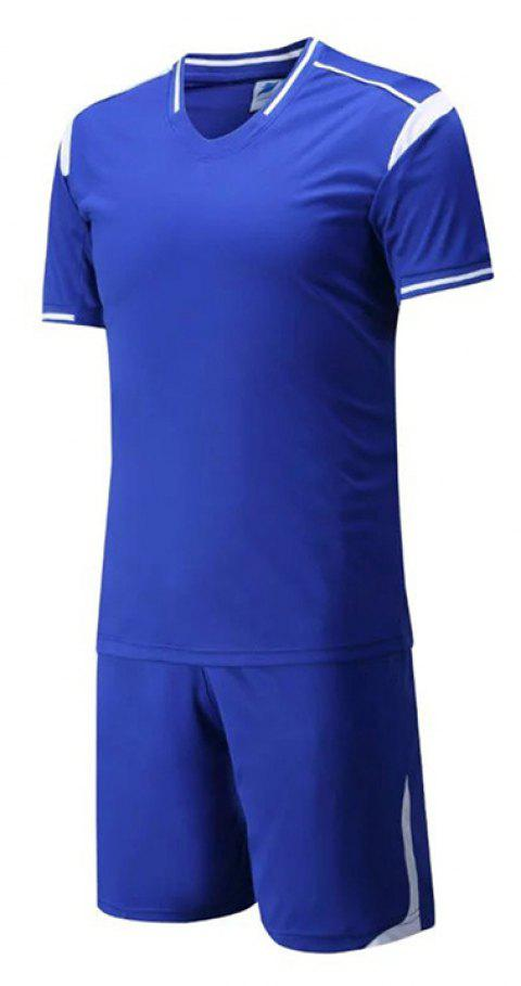 Ensemble de sport respirant de style simple pour homme - Bleu Royal 3XL