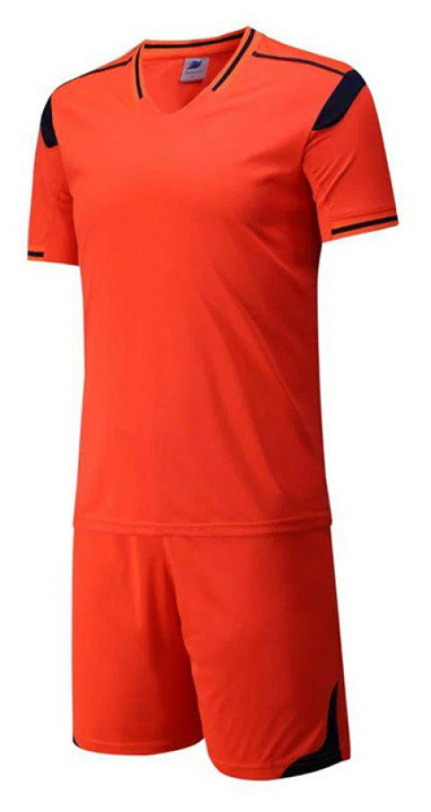 Men's Breathable Simple Style Sports Set - DARK ORANGE 2XL