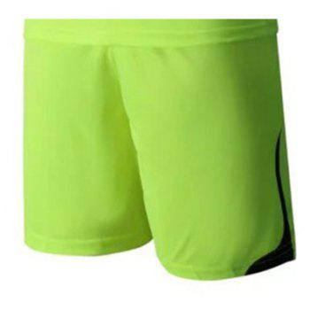 Men's Breathable Simple Style Sports Set - GREEN YELLOW XL