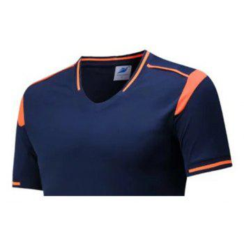 Men's Breathable Simple Style Sports Set - LAPIS BLUE 2XL