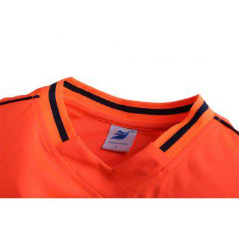Men's Breathable Simple Style Sports Set - DARK ORANGE L