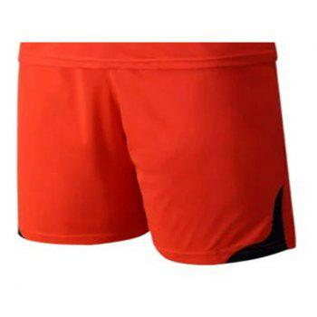 Men's Breathable Simple Style Sports Set - DARK ORANGE M