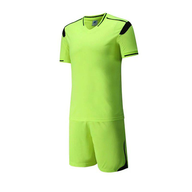 Men's Breathable Simple Style Sports Set - GREEN YELLOW 3XL