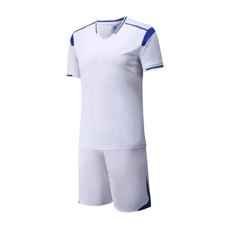 Men's Breathable Simple Style Sports Set - WHITE 2XL