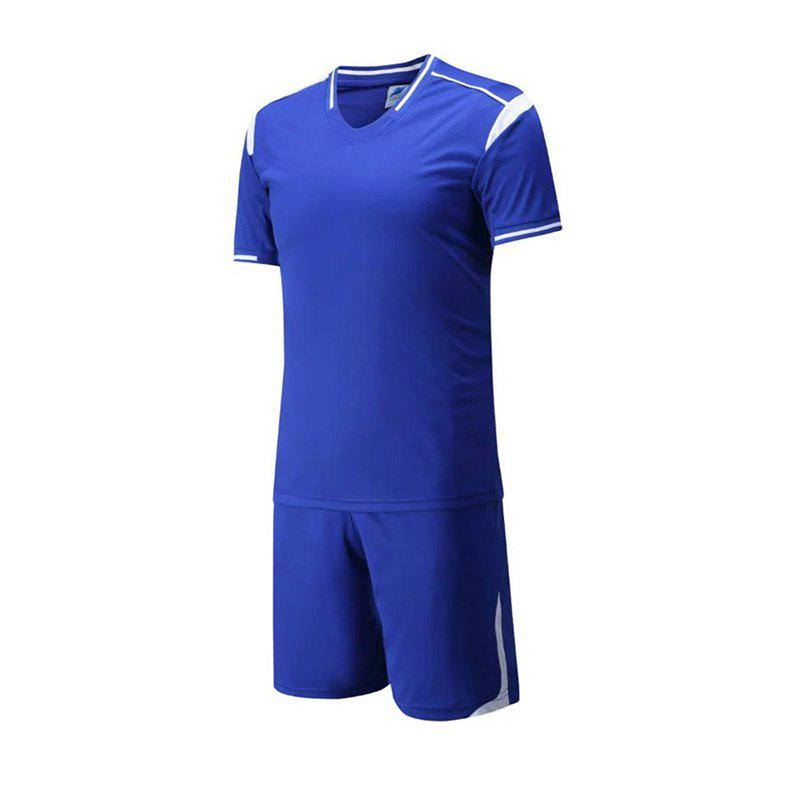 Men's Breathable Simple Style Sports Set - ROYAL BLUE 3XL